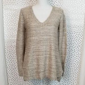 BB Dakota Kelser Sequined Split Back Sweater   XS